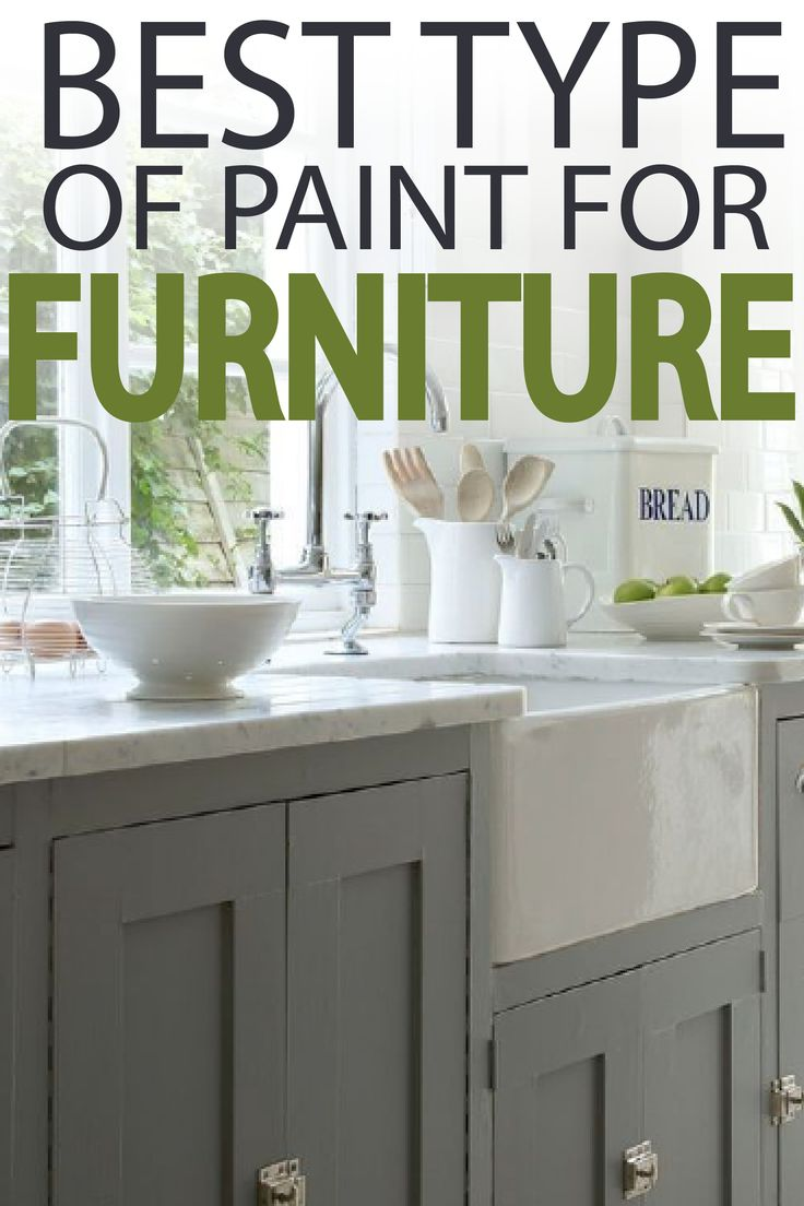 Learn what the best type of paint to use on your next DIY furniture project!
