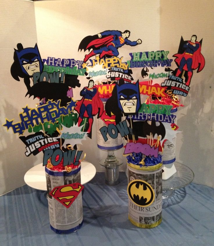 Superhero Centerpieces - Google Search