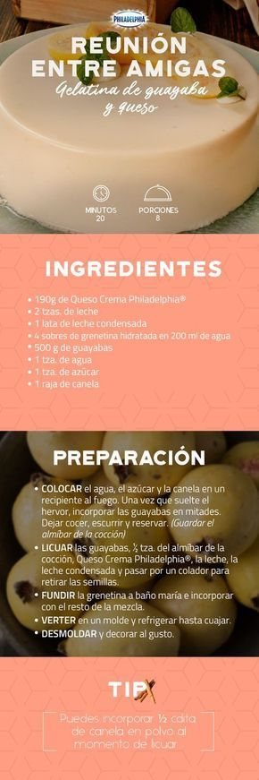 Celebrar su amistad será la ocasión perfecta para disfrutar de una Gelatina de guayaba y queso. #recetas #receta #quesophiladelphia #philadelphia #crema #quesocrema #queso #comida #cocinar #cocinamexicana #recetaspostres #guayaba #quesos #gelatina #gelatinas #recetasgelatinas #fruta #recetasconquesophiladelphia