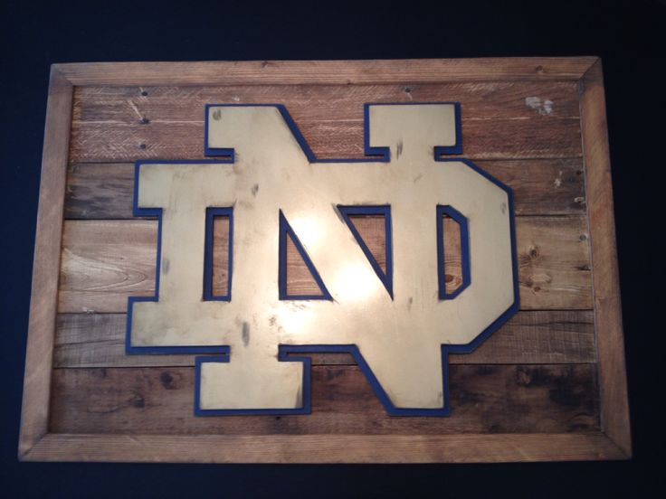Hand distressed Notre Dame 3-D logo sign. Reclaimed wood sign. 3-D logo sign. Fighting irish wall decor. Hand made by kate Hall