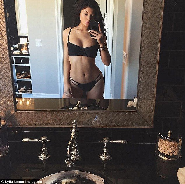 Summer swimwear: Kylie Jenner posted a bikini selfie on her Instagram account on Sunday...