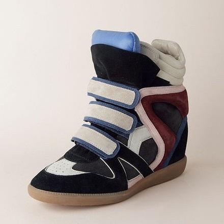 Isabelle Marant | goedkoop Isabel Marant Sneakers Bekket hoge top Suede wit blauw zwart online verkoop