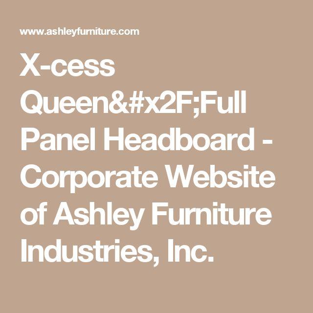 X Cess Queen/Full Panel Headboard   Corporate Website Of Ashley Furniture  Industries, Inc. | Evansroom | Pinterest | Ashley Furniture Industries