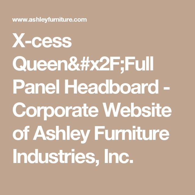 X-cess Queen/Full Panel Headboard - Corporate Website of Ashley Furniture Industries, Inc.