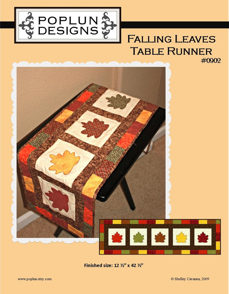 142 best Table runner patterns images on Pinterest | Projects ...