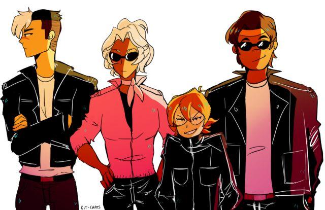 Shiro, Allura, Pidge, and Hunk (Voltron)