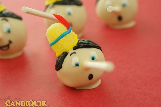 Pinocchio Cake Pops! I love Disney characters (and cake). Step by Step tutorial.