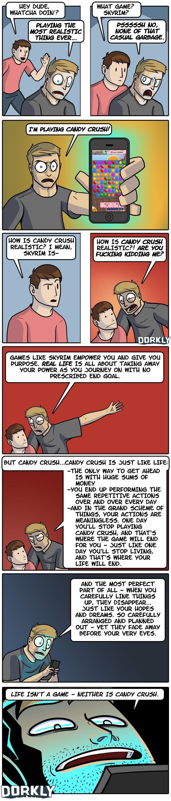 oh. my. gosh. never have truer words been stated..... dorkly comic: the most realistic game of all time [geeksaresexy.net]