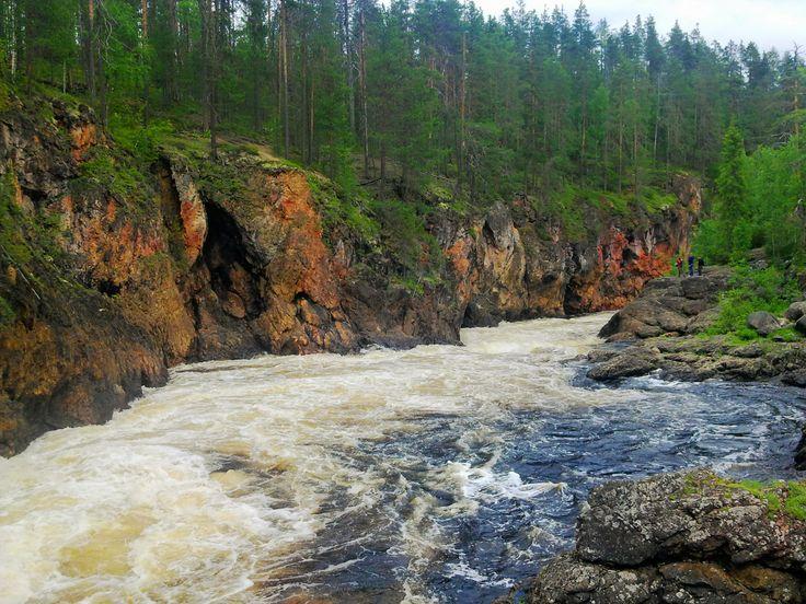 Kiutaköngäs, Kuusamo, Finland. Summer 2012