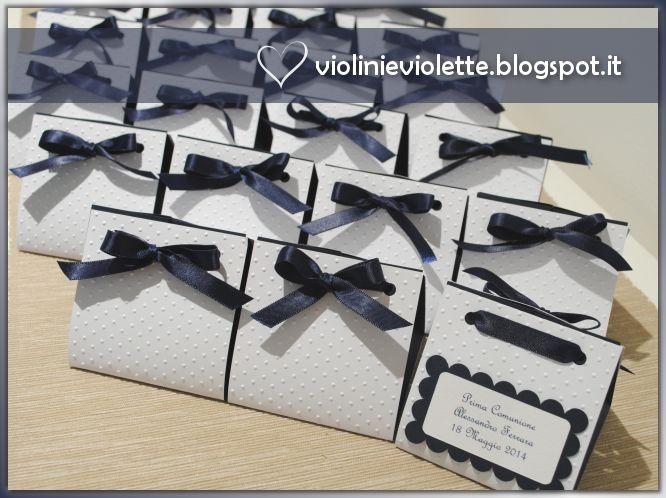 Violini e Violette: Scatoline Prima Comunione di Alessandro tutorial