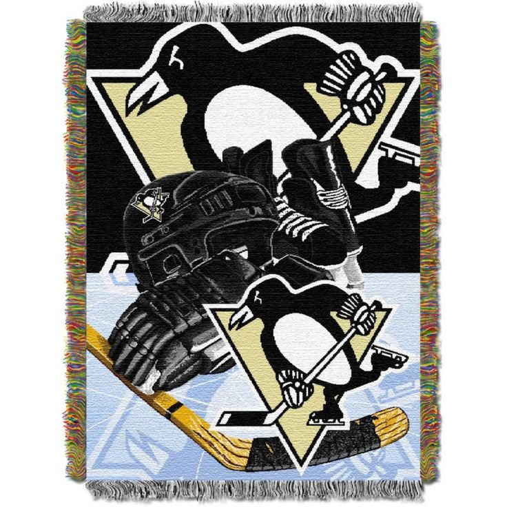 Northwest Pittsburgh Penguins 48 in x 60 in Home Ice Advantage Tapestry Throw Blanket, Team