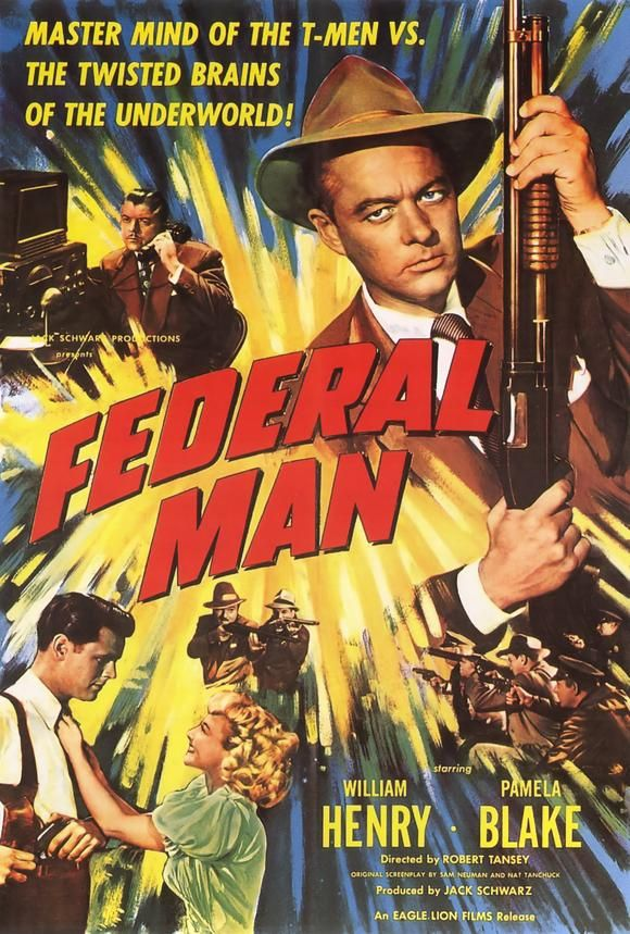 1950 movie posters   Federal Man Movie Posters From Movie Poster Shop