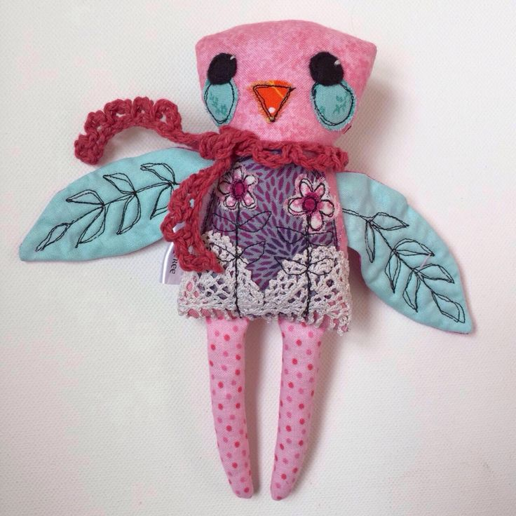 Mini Bird Critter - handmade cloth doll - stuffed animal by EilishTree on Etsy https://www.etsy.com/ie/listing/547657264/mini-bird-critter-handmade-cloth-doll