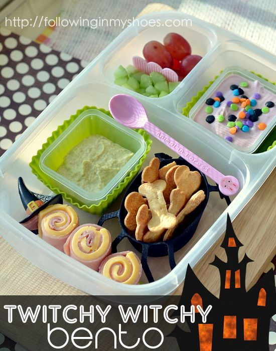 Super fun twitchy witchy #bento #iheartlunch #halloween #EasyLunchboxes