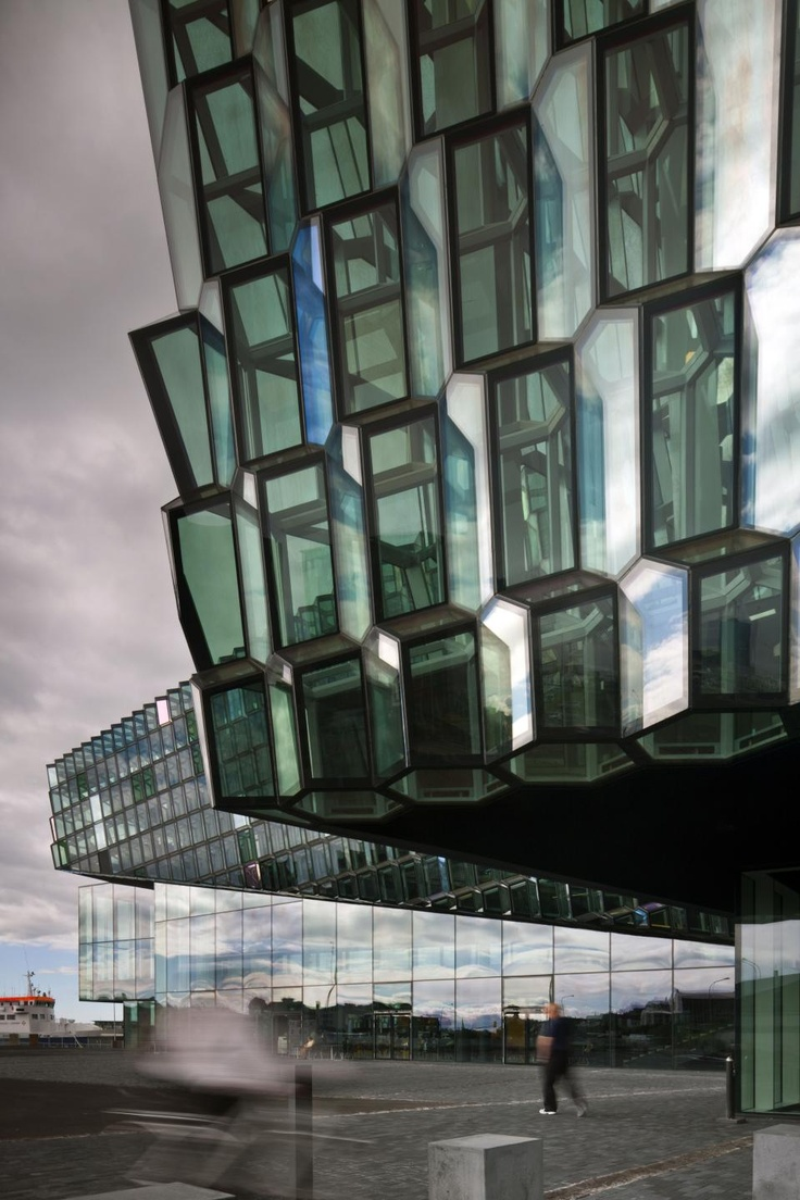stunning…….    Reykjavik Concert Hall and Harpa Conference Centre sets new standards for architecture in Iceland. It was designed by Henning Larsen Architects in collaboration with Batteríið Architects, who chose Duravit ceramics – Starck 2, Starck 3, Duraplus and Architec – for the washroom facilities.