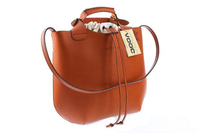 Oryginalna torba skórzana shopper bag worek torebka damska na ramię do ręki  VOOC Vintage P6.