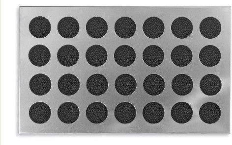 stainless doormat with rubber circles contemporary doormats