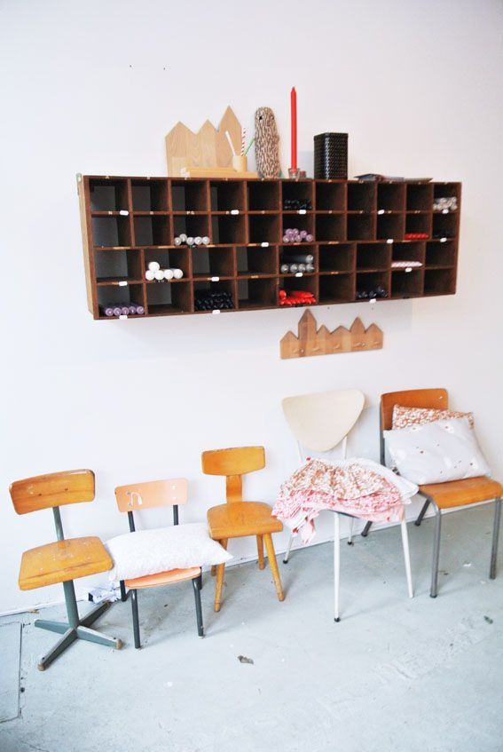 kids vintage chair collection