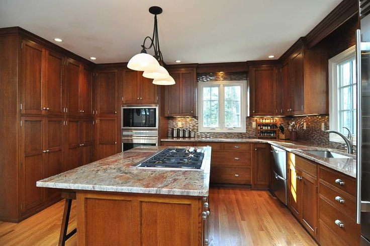 Mission Style Kitchen Cabinets With Hardwood Floors