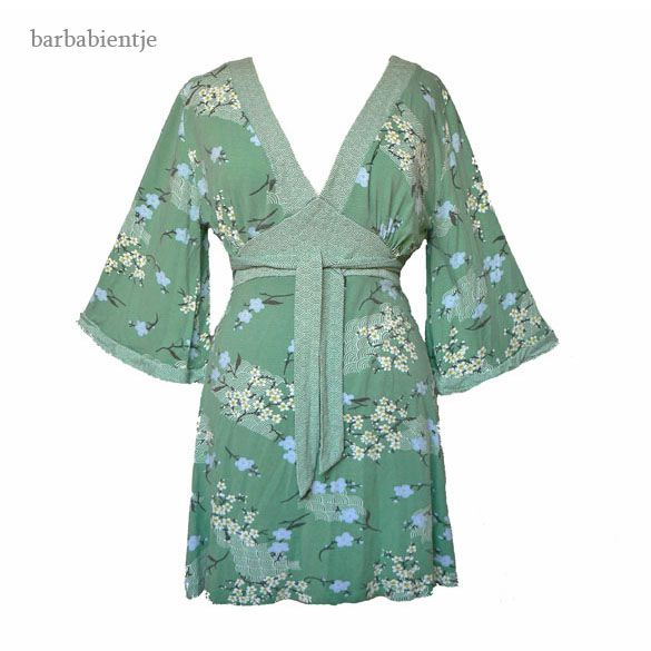 VILA - Mintgroen tuniek jurkje kimono stijl mt S
