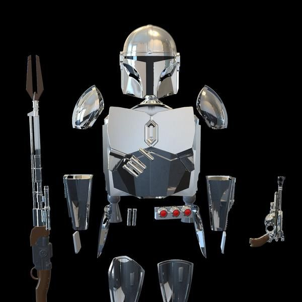 Hand plate armor /'The Mandalorian/' digital 3D model download