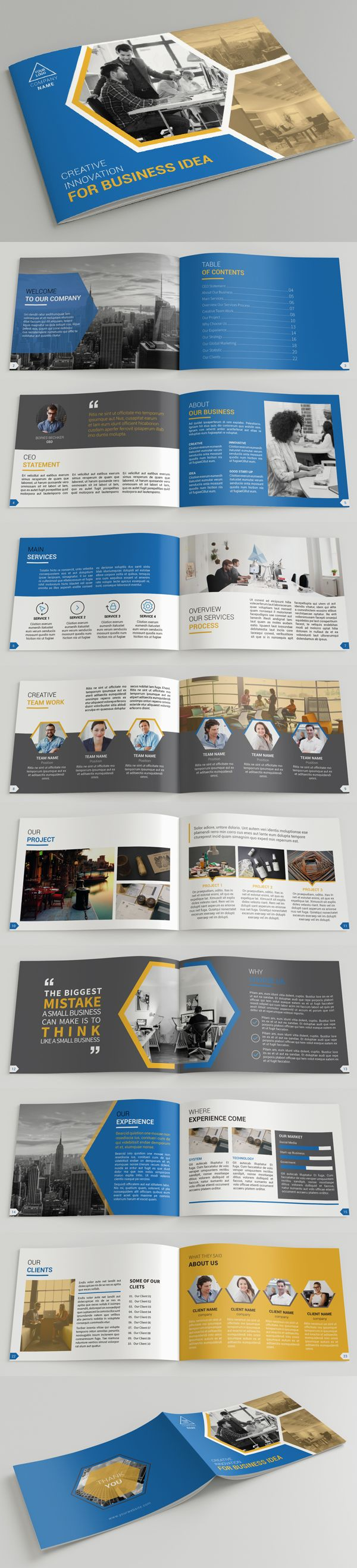 Creative A5 Company Profile Brochure Template #annualreport #booklet #brochuredesign #brochuretemplates #fashioncatalog #catalogdesign