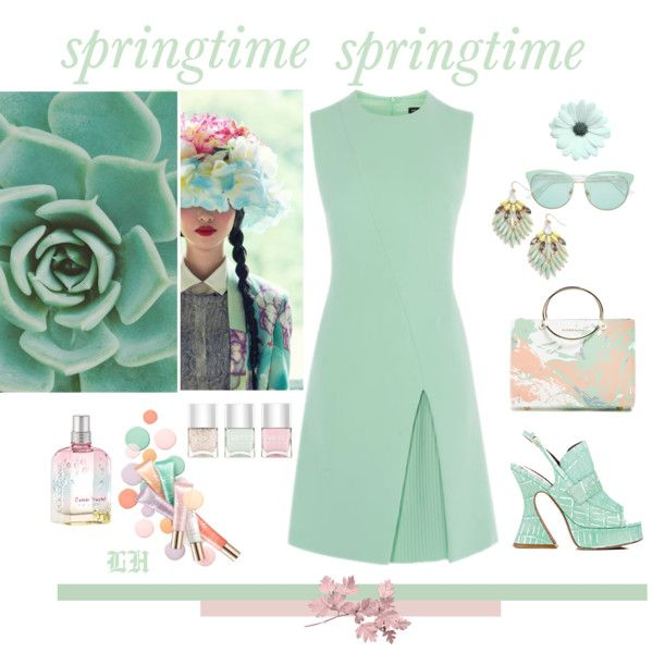 Springtime! by lheijl on Polyvore featuring Sies Marjan, Future Glory Co., Adia Kibur, Gucci, Clarins and Nails Inc.