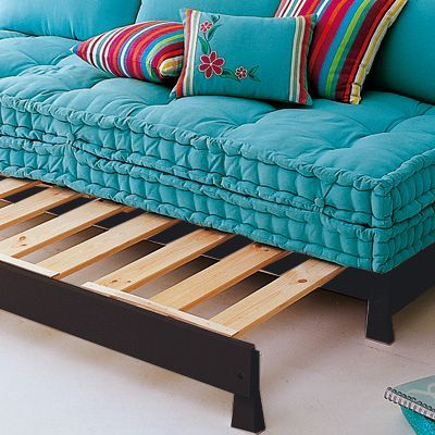 Moroccan sofa bed would be a great solution to guest space!  YES PLEASE!!
