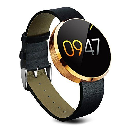 SODIAL(R) DM360 Bluetooth SmartWatch Handy-Uhr fuer Samsung iphone Android iOS Phone mit Kamera Gold   * SODIAL is a registered trademark. ONLY Authorized seller of SODIAL can sell under SODIAL listings.Our products will enhance your experience to unparall