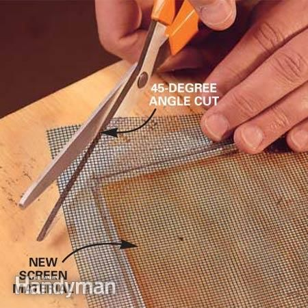 How to Fix a Window Screen: Get your window screens in shape for summer with this simple repair Read more: http://www.familyhandyman.com/windows/repair/how-to-fix-a-window-screen/view-all