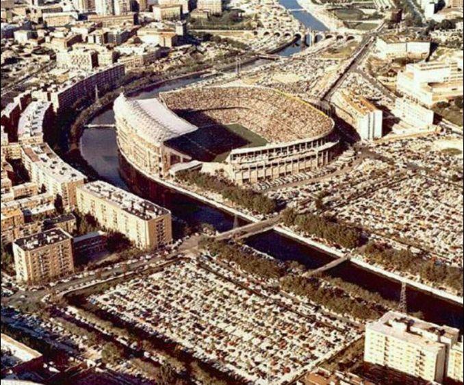 Atleti-Madrid EStadio Vicente Calderon años 70's