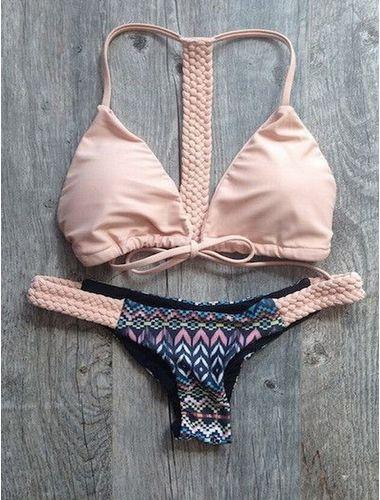 Coral Braided Bikini (Swim Suit)