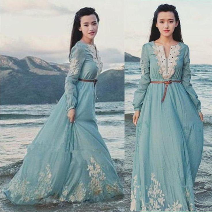 Hot Sale Christmas 2013 autumn winter NEW STYLE women fashion vintage cute maxi long dress casual BOHO floral celebrity dresses $32.68