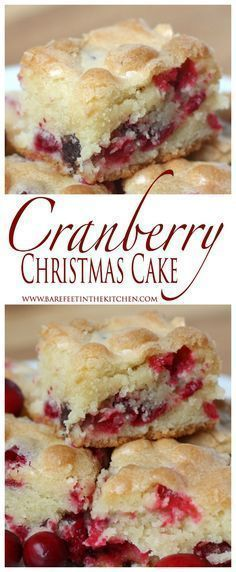 Cranberry Christmas Cake is the ULTIMATE holiday dessert! Get the recipe at http://barefeetinthekitchen.com