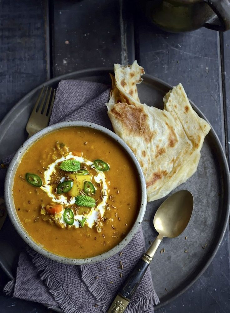 It's getting harder to pretend it's still summer which means it's time for a hearty soup. This thick, creamy and fragrant Indian soup from Sarah Tuck is one of her most popular recipes of all time, and with good reason...
