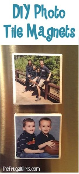 There's nothing more fun than going to the fridge and seeing your favorite faces smiling back at you! ;) These DIY Photo Tile Magnets are such a cinch to make and will cheer up any refrigerator, fi...