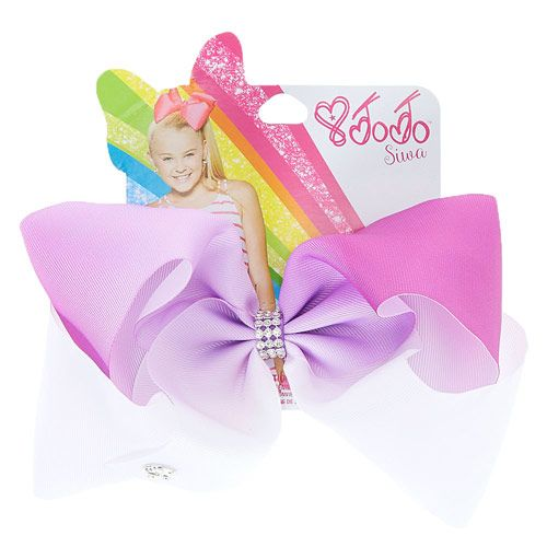 JoJo Siwa Large Purple & White Ombre Signature Hair Bow
