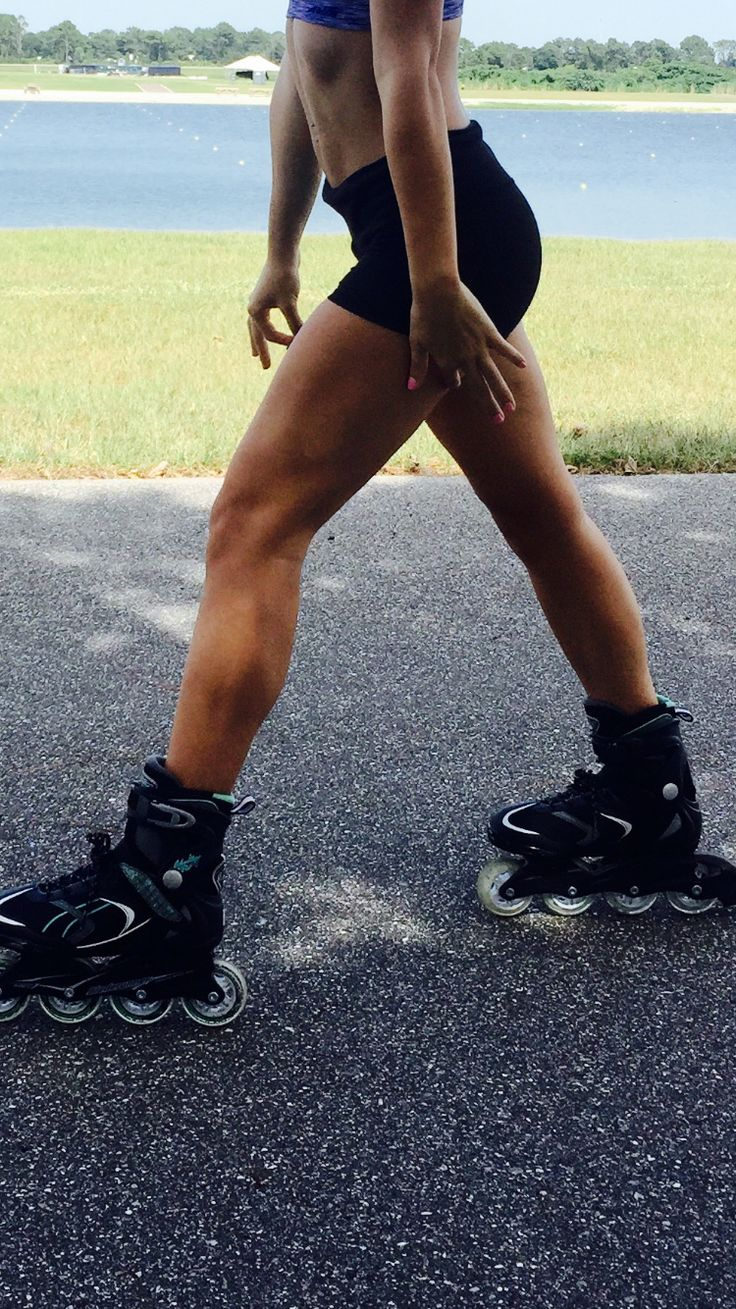 Rollerblading 3-4x a day can truly define your legs, and shape your body. Great summer workout!!