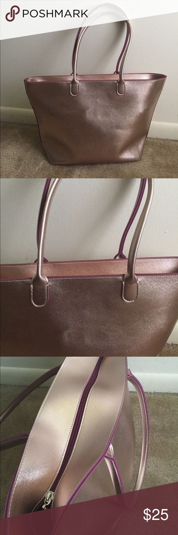 Bath and body work tote bag Beautiful rose gold! Good condition. Looking to sell, not accepting trades! Bags Totes
