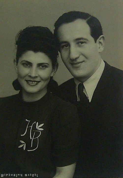 1947 photo of Kuba Beck, right, and his wife Hela. Mr. Beck, who died at age 91 on November 5, 2013 and his wife were two of the 1200 Jews saved by Oskar Schindler. Mr. Beck was a 17-year-old engineering student when the Nazis invaded Poland. He became a tool and die maker which saved his life.