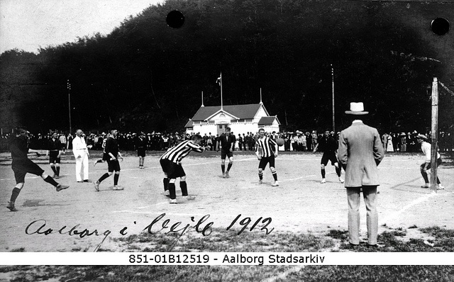 Football from the archives 1912 by Aalborg Stadsarkiv, via Flickr