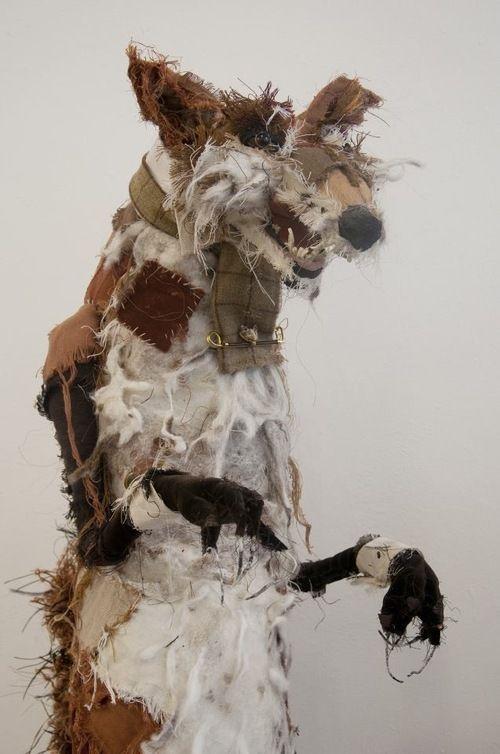 Fantastical Woodland Beasts by Irish Artist Lauren Scott - The World of Kitsch Lauren Scott artist fox sculpture textile ceramic