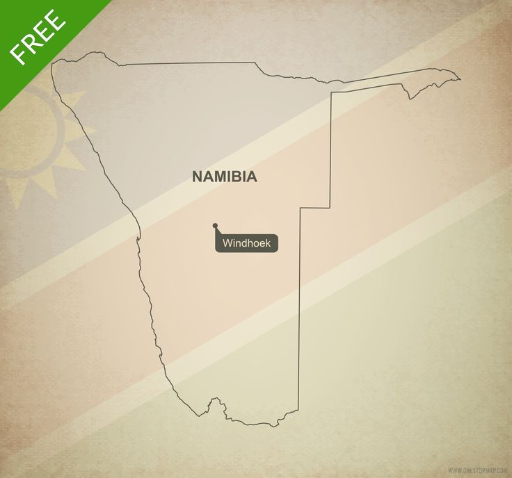 Free map of Namibia outline Printable