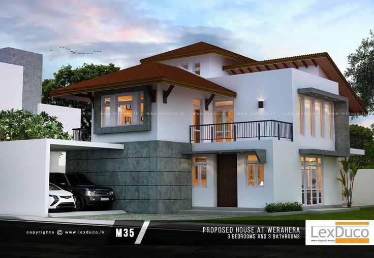 Two Storey Tiny House Design House Roof Design Modern Roof Design Modern House Plans Small modern house plans in sri lanka