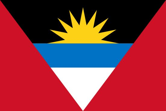 Flag of Antigua and Barbuda / Capital City: St. John's / Continent: North America