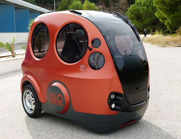 India's TaTa motors concept car that runs on compressed air. Gets 125 miles between fill ups and will do 50 mph...