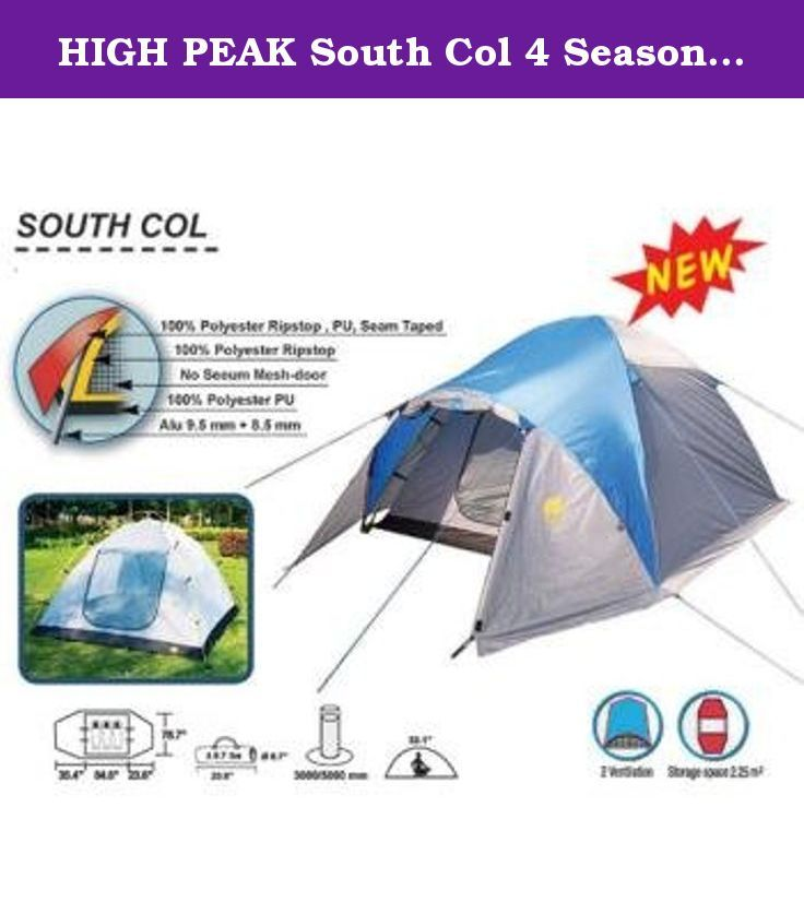 HIGH PEAK South Col 4 Season Backpacking Tent 3 person 9.7 lbs!. * Clip Pole Design with Ring & Pin at the bottoms of the poles for QUICK & EASY SETUP . * Free Standing Design allows you to set it up Quickly and Easily most anywhere in just a few minutes. Use the Guy Ropes to make your new tent even MORE STABLE . * 9.5 mm shock-corded ALUMINUM Poles ( 8.5 mm pole for the main fly opening ) * Great for TWO or THREE Campers * Only 9.7 Lbs. Carry Weight * Fire Retardant treated. Meets…