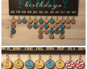 Family Birthday Board . Family Birthday Sign . Special Dates . Family Celebrations . Family Birthday Wall Hanging . Mother's Day Gift