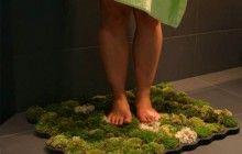 moss rug, moss tiles, moss lamps: Idea, Stuff, Green Bathroom, Daughters, Shower, Mom