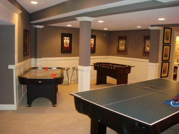 50 best basement ideas images on pinterest basement for Finished basement designs